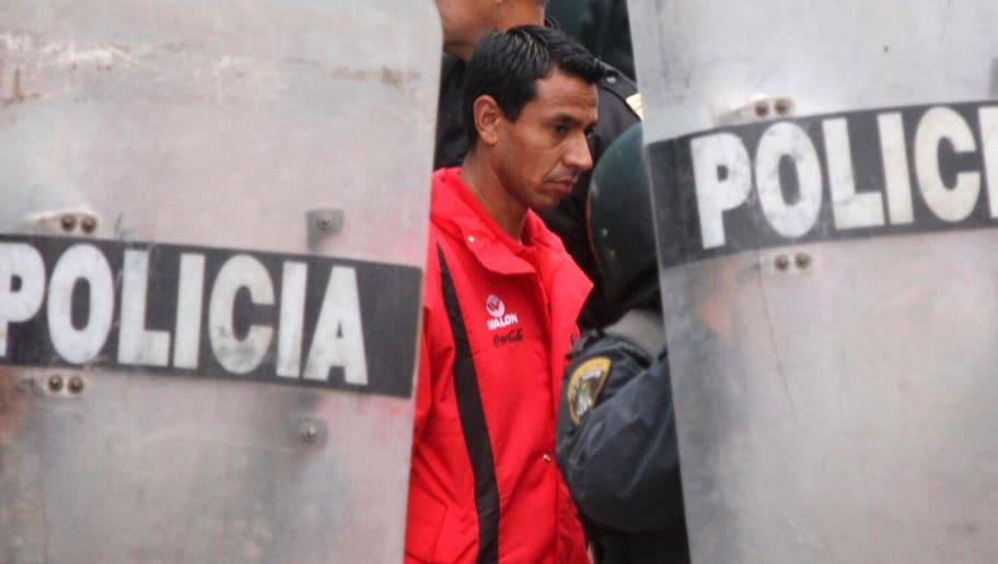 Peru's team captain Nolberto Solano is p