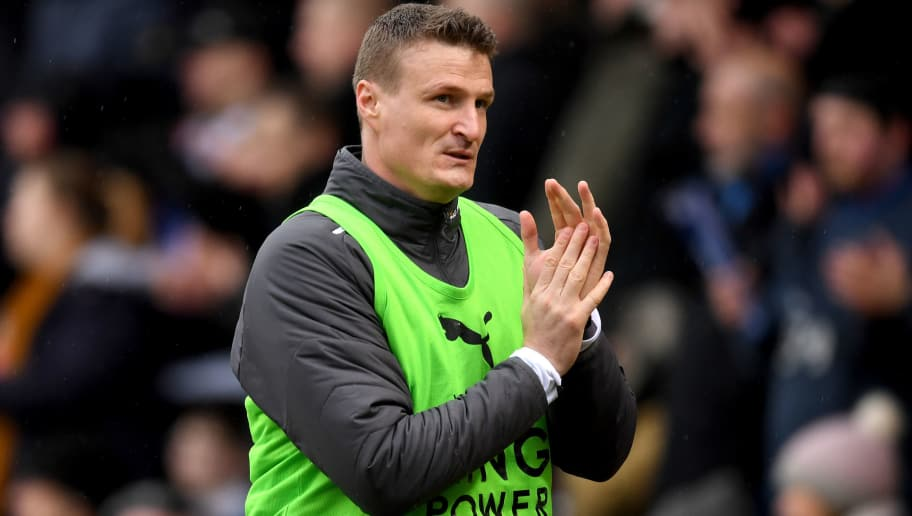 PETERBOROUGH, ENGLAND - JANUARY 27:  Robert Huth of Leicester City looks on during The Emirates FA Cup Fourth Round match between Peterborough United and Leicester City at ABAX Stadium on January 27, 2018 in Peterborough, England  (Photo by Michael Regan/Getty Images)