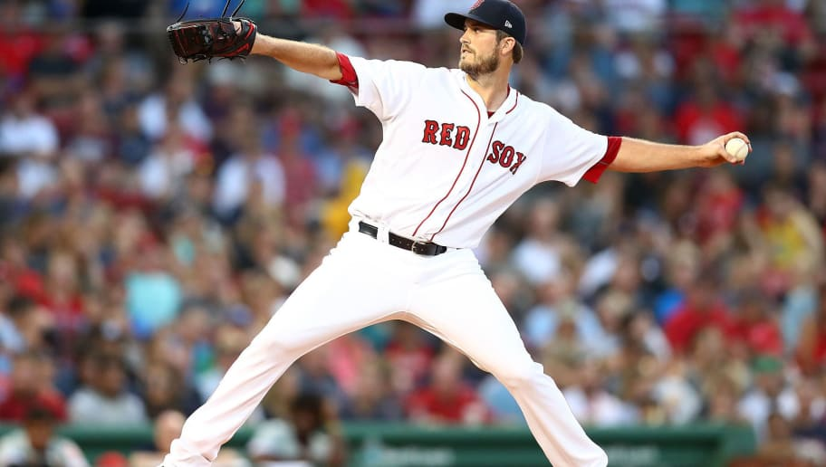 BOSTON, MA - JULY 31:  Drew Pomeranz #31 of the Boston Red Sox pitches in the second inning of a game against the Philadelphia Phillies at Fenway Park on July 31, 2018 in Boston, Massachusetts.  (Photo by Adam Glanzman/Getty Images)
