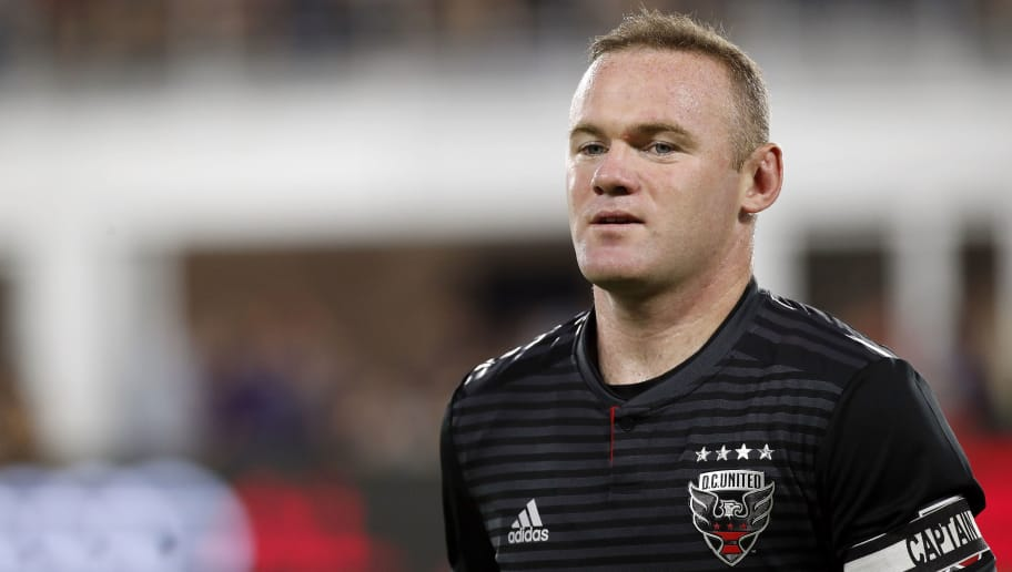 WASHINGTON, DC - AUGUST 29: Wayne Rooney #9 of D.C. United looks on before a game against the Philadelphia Union at Audi Field on August 29, 2018 in Washington, DC. (Photo by Patrick McDermott/Getty Images)