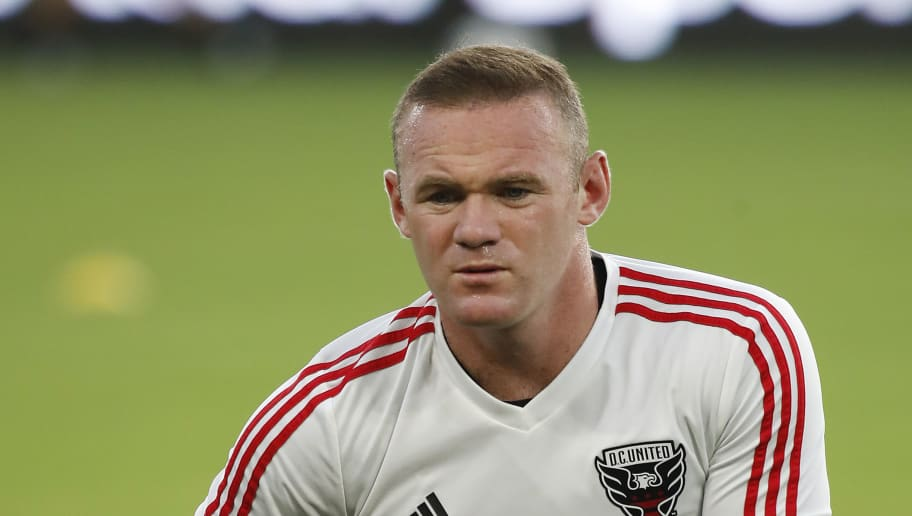 WASHINGTON, DC - AUGUST 29: Wayne Rooney #9 of D.C. United warms up before a game against the Philadelphia Union at Audi Field on August 29, 2018 in Washington, DC. (Photo by Patrick McDermott/Getty Images)