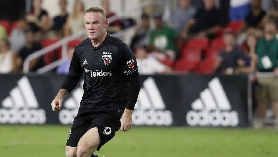 WASHINGTON, DC - AUGUST 29: Wayne Rooney #9 of D.C. United controls the ball in the second half against the Philadelphia Union at Audi Field on August 29, 2018 in Washington, DC. (Photo by Patrick McDermott/Getty Images)