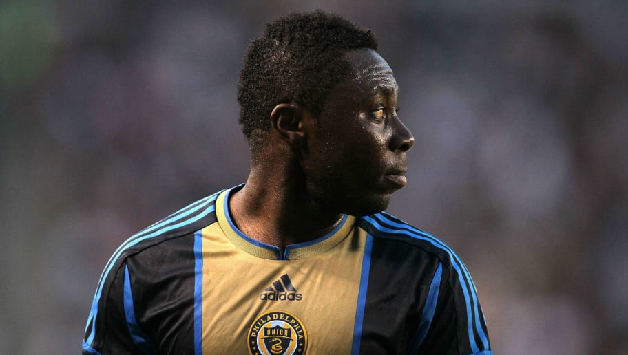 CARSON, CA - JULY 04: Freddy Adu #11 of the Philadelphia Union looks to his teammates prior to a Union cornerkick during the MLS match against the Los Angeles Galaxy at The Home Depot Center on July 4, 2012 in Carson, California. The Union defeated the Galaxy 2-1. (Photo by Victor Decolongon/Getty Images)
