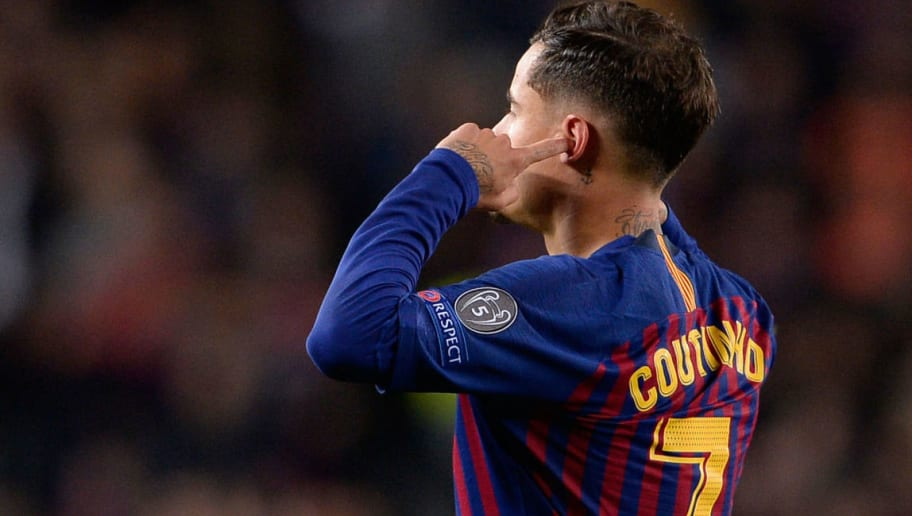 Sergio Busquets and Clement Lenglet React to Philippe Coutinho's Celebration Against Man Utd