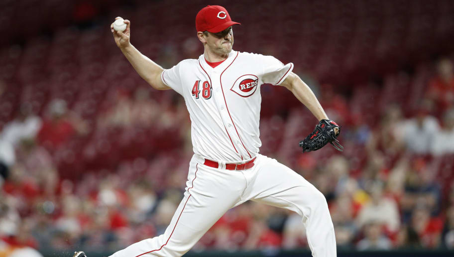 CINCINNATI, OH - MAY 22: Jared Hughes #48 of the Cincinnati Reds pitches in the ninth inning against the Pittsburgh Pirates at Great American Ball Park on May 22, 2018 in Cincinnati, Ohio. The Reds won 7-2. (Photo by Joe Robbins/Getty Images)