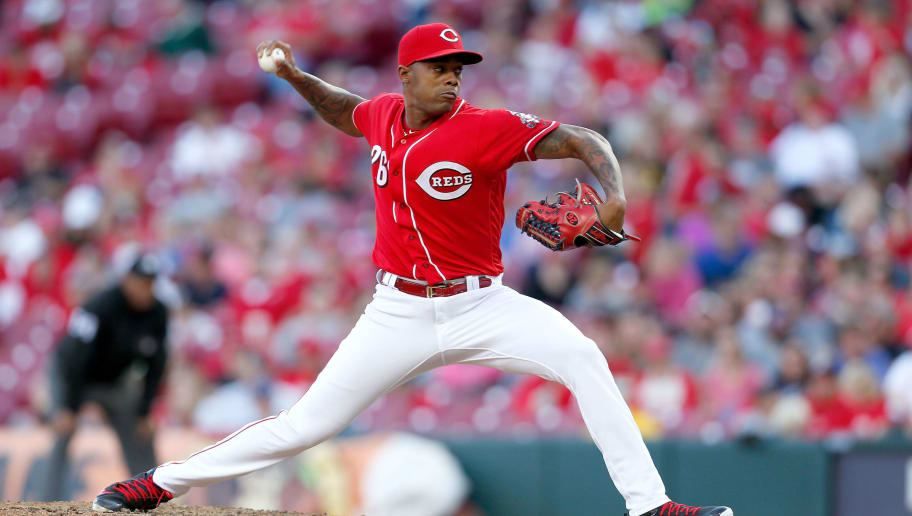 CINCINNATI, OH - SEPTEMBER 29:  Raisel Iglesias #26 of the Cincinnati Reds throws a pitch during the game against the Pittsburgh Pirates at Great American Ball Park on September 29, 2018 in Cincinnati, Ohio. Cincinnati defeated Pittsburgh 3-0. (Photo by Kirk Irwin/Getty Images)