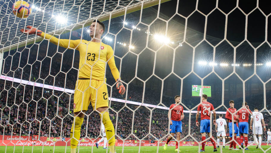 GDANSK, POLAND - NOVEMBER 15: Jiri Pavlenka of Czech Republic during International Friendly match between Poland and Czech Republic on November 15, 2018 in Gdansk, Poland. (Photo by Rafal Oleksiewicz/PressFocus/MB Media/Getty Images)