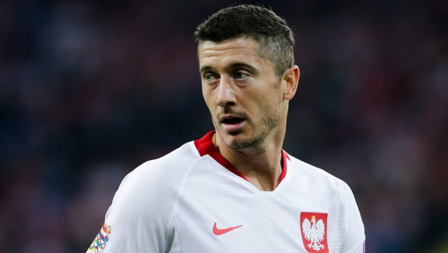 CHORZOW,  - OCTOBER 14: Robert Lewandowski of Poland during the  UEFA Nations league match between Poland  v Italy  at the Slaski Stadium on October 14, 2018 in Chorzow  (Photo by Erwin Spek/Soccrates/Getty Images)