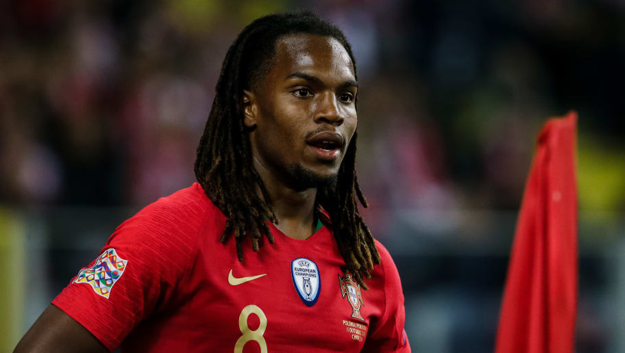 CHORZOW,  - OCTOBER 11: Renato Sanches of Portugal during the  UEFA Nations league match between Poland  v Portugal  at the Slaski Stadium on October 11, 2018 in Chorzow  (Photo by Erwin Spek/Soccrates/Getty Images)