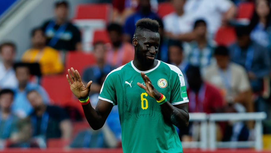 MOSCOW, RUSSIA - JUNE 19: Salif Sane of Senegal gestures during the 2018 FIFA World Cup Russia group H match between Poland and Senegal at Spartak Stadium on June 19, 2018 in Moscow, Russia. (Photo by TF-Images/Getty Images)