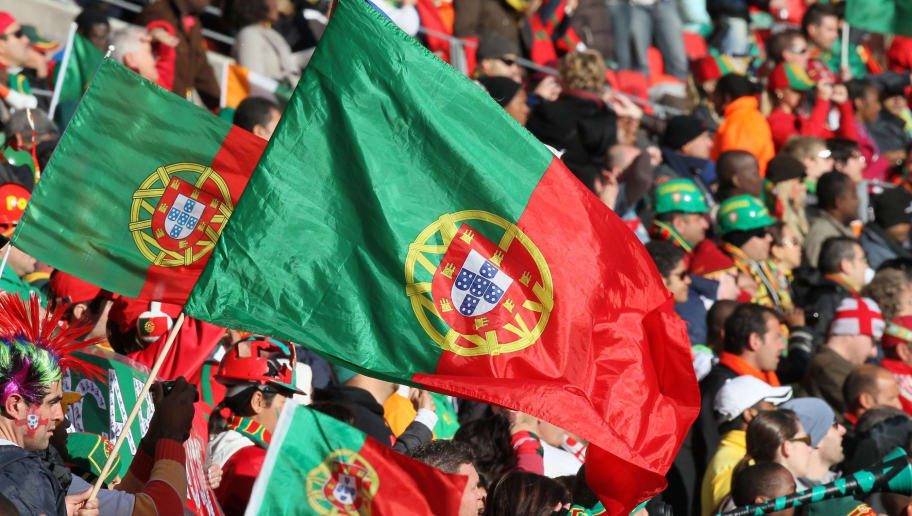 Portugal supporters wave national countr