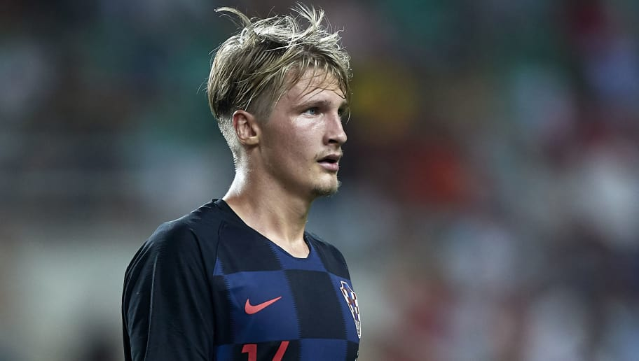 FARO, PORTUGAL - SEPTEMBER 06:  Tin Jedvaj of Croatia looks on during the International Friendly match between Portugal and Croatia at Algarve Stadium on September 6, 2018 in Faro, Portugal.  (Photo by Quality Sport Images/Getty Images)
