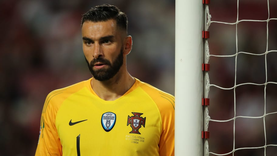 LISBON, PORTUGAL - SEPTEMBER 10: Rui Patricio of Portugal during the UEFA Nations League A group three match between Portugal and Italy at Estadio do Sport Lisboa e Benfica on September 10, 2018 in Lisbon, Portugal. (Photo by Matthew Ashton - AMA/Getty Images)