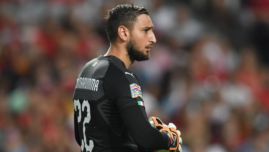 LISBON, PORTUGAL - SEPTEMBER 10:  Gianluigi Donnarumma of Italy in action during the UEFA Nations League A group three match between Portugal and Italy at  on September 10, 2018 in Lisbon, Portugal.  (Photo by Claudio Villa/Getty Images)