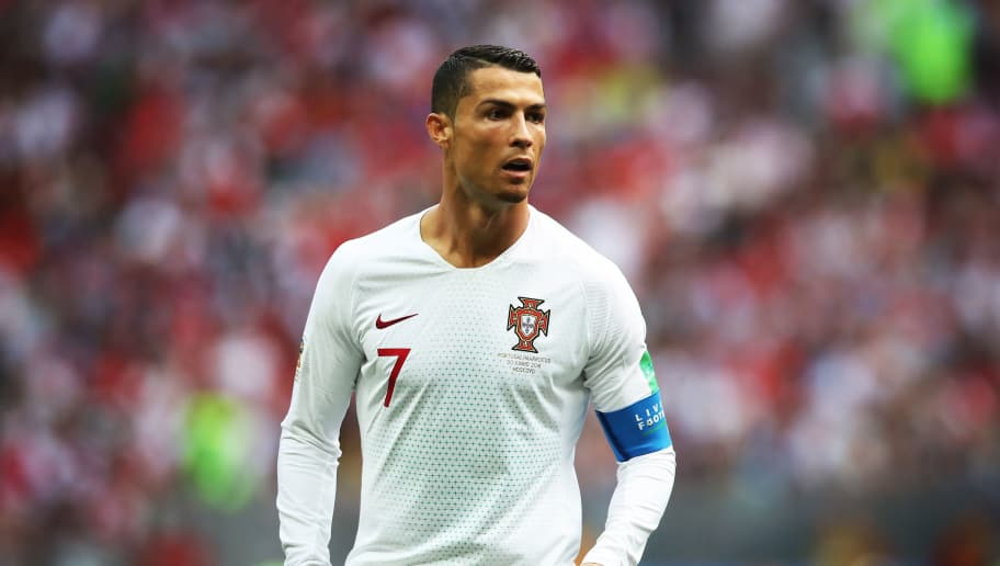MOSCOW, RUSSIA - JUNE 20:  Cristiano Ronaldo of Portugal is seen during the 2018 FIFA World Cup Russia group B match between Portugal and Morocco at Luzhniki Stadium on June 20, 2018 in Moscow, Russia. (Photo by Ian MacNicol/Getty Images)