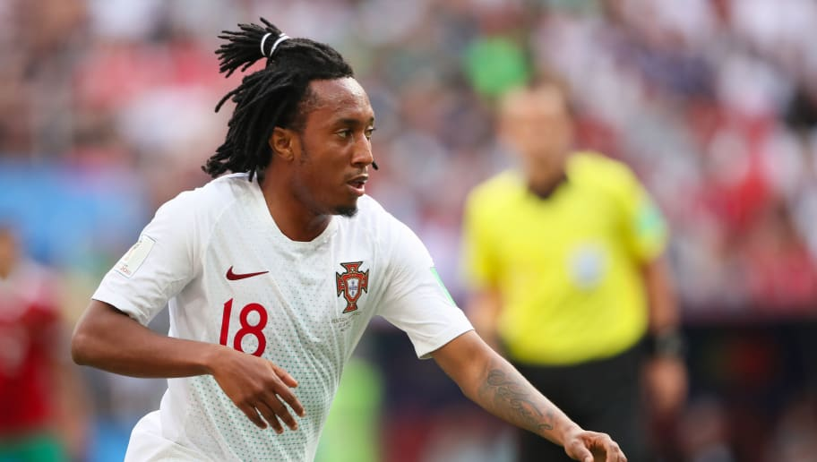 MOSCOW, RUSSIA - JUNE 20:    Gelson Martins of Portugal in action during the 2018 FIFA World Cup Russia group B match between Portugal and Morocco at Luzhniki Stadium on June 20, 2018 in Moscow, Russia. (Photo by Matthew Ashton - AMA/Getty Images)