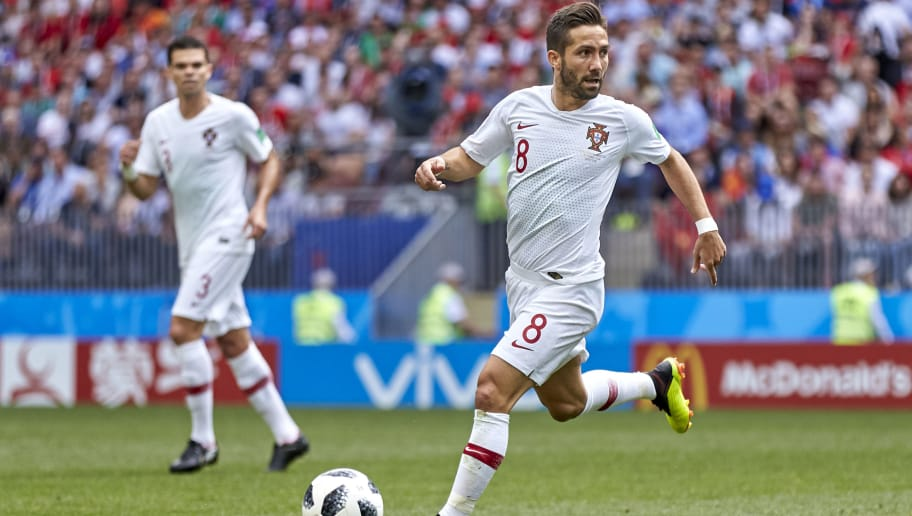 MOSCOW, RUSSIA - JUNE 20:  Joao Moutinho of Portugal controls the ball during the 2018 FIFA World Cup Russia group B match between Portugal and Morocco at Luzhniki Stadium on June 20, 2018 in Moscow, Russia.  (Photo by Quality Sport Images/Getty Images)