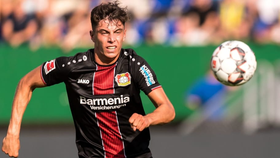 Kai Havertz of Bayer 04 Leverkusen during the Pre-season Friendly match between Fortuna Sittard and Bayer Leverkusen at the Fortuna Sittard Stadium on July 28, 2018 in Sittard, The Netherlands(Photo by VI Images via Getty Images)