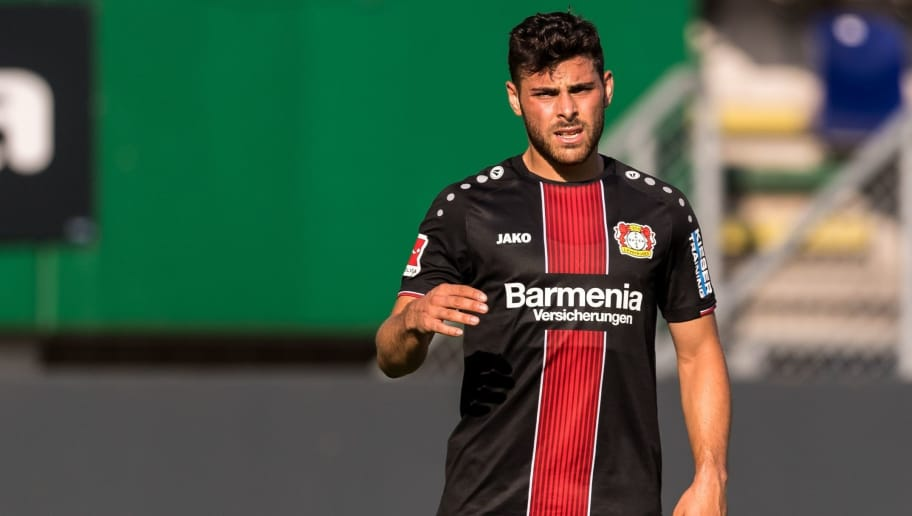 Kevin Volland of Bayer 04 Leverkusen during the Pre-season Friendly match between Fortuna Sittard and Bayer Leverkusen at the Fortuna Sittard Stadium on July 28, 2018 in Sittard, The Netherlands(Photo by VI Images via Getty Images)