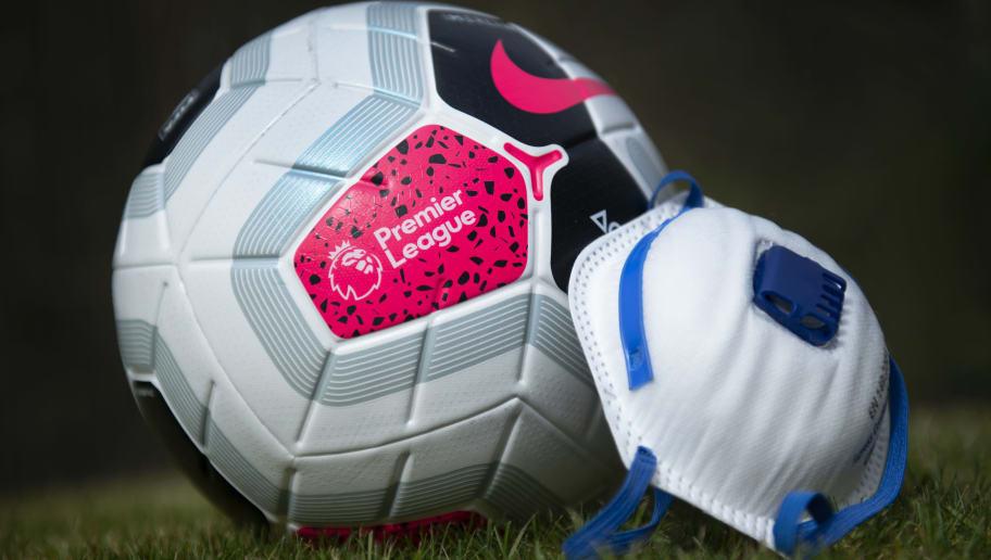 Premier League Football and Coronavirus Protective Mask