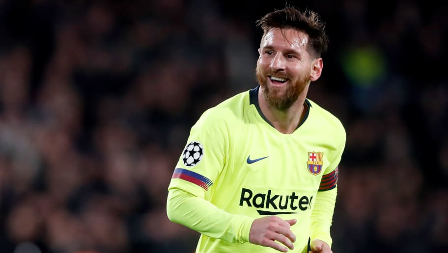 EINDHOVEN, NETHERLANDS - NOVEMBER 28: Lionel Messi of FC Barcelona  during the UEFA Champions League  match between PSV v FC Barcelona at the Philips Stadium on November 28, 2018 in Eindhoven Netherlands (Photo by Cees van Hoogdalem/Soccrates/Getty Images)