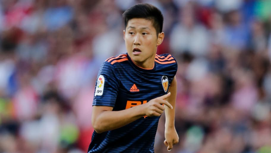 EINDHOVEN, NETHERLANDS - JULY 28: Kangin Lee of Valencia during the Club Friendly   match between PSV v Valencia at the Philips Stadium on July 28, 2018 in Eindhoven Netherlands (Photo by Erwin Spek/Soccrates/Getty Images)
