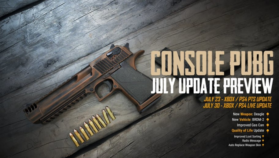 PUBG Xbox July update is set to arrive July 30.
