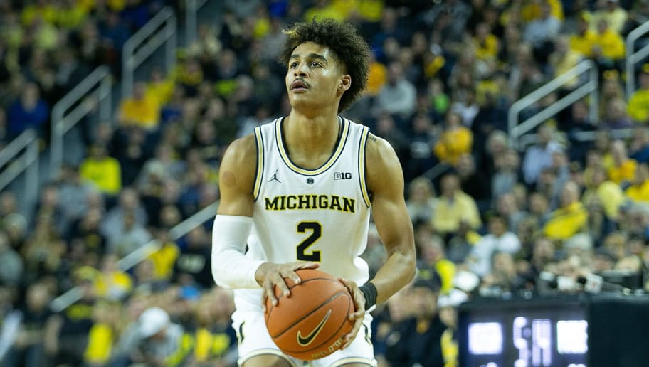 ANN ARBOR, MI - DECEMBER 1: Jordan Poole #2 of the Michigan Wolverines shoots a jump shot during the second half of the game against the Purdue Boilermakers at Crisler Center on December 1, 2018 in Ann Arbor, Michigan. Michigan defeated Purdue 87-56. (Photo by Leon Halip/Getty Images)
