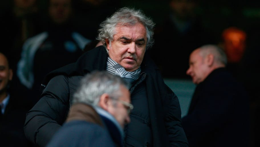 LONDON, ENGLAND - NOVEMBER 27:  Flavio Briatore takes his seat before the npower Championship match between Queens Park Rangers and Cardiff City at Loftus Road on November 27, 2010 in London, England.  (Photo by Dan Istitene/Getty Images)