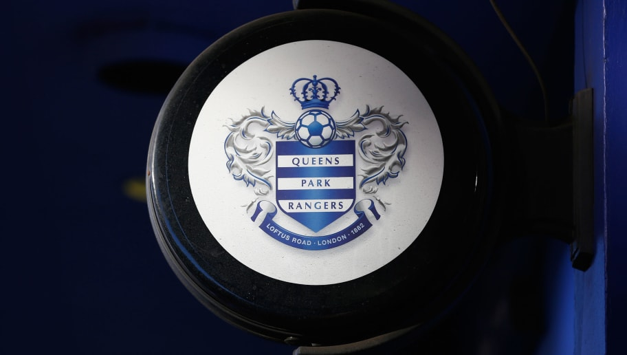 LONDON, ENGLAND - DECEMBER 06:  The QPR club logo ahead of the Barclays Premier League match between Queens Park Rangers and Burnley at Loftus Road on December 6, 2014 in London, England.  (Photo by Julian Finney/Getty Images)