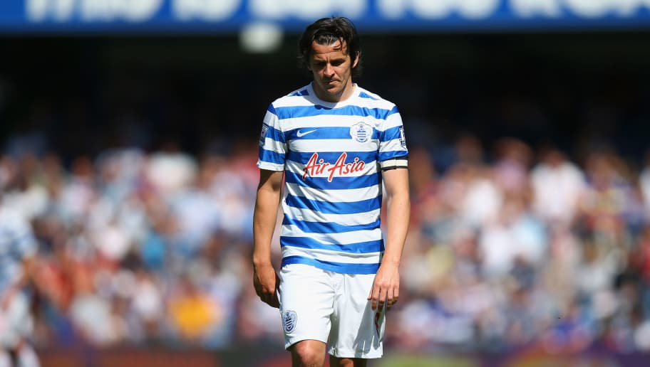 LONDON, ENGLAND - MAY 16:  A dejected Joey Barton of QPR looks to the ground during the Barclays Premier League match between Queens Park Rangers and Newcastle United at Loftus Road on May 16, 2015 in London, England.  (Photo by Clive Rose/Getty Images)