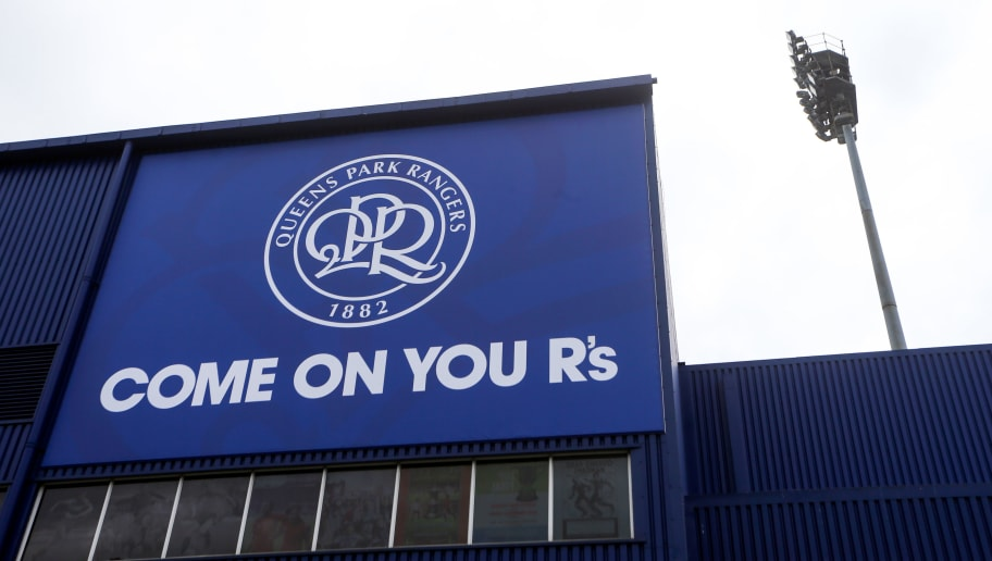 LONDON, ENGLAND - JULY 30: The new QPR club badge crest on the outside of the stadium before the Pre-Season Friendly match between Queens Park Rangers and Watford at Loftus Road on July 30, 2016 in London, England. (Photo by Catherine Ivill - AMA/Getty Images)