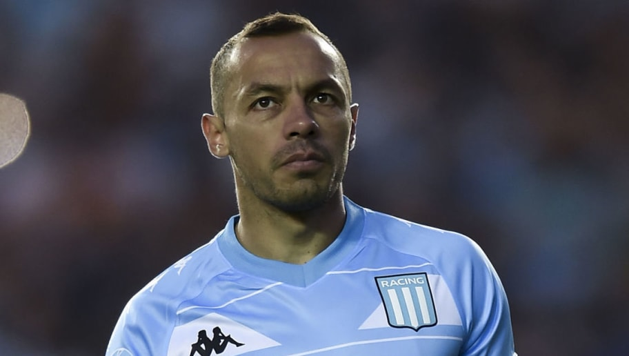 AVELLANEDA, ARGENTINA - OCTOBER 07: Marcelo Diaz of Racing Club looks on before a match between Racing Club and Boca Juniors as part of Superliga 2018/19 at Estadio Juan Domingo Peron on October 7, 2018 in Avellaneda, Argentina. (Photo by Marcelo Endelli/Getty Images)