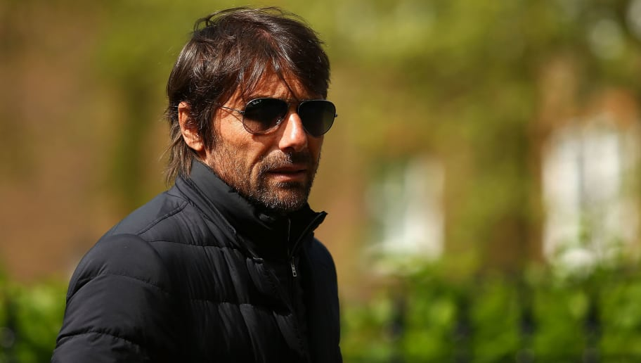 LONDON, ENGLAND - MAY 01:  Chelsea Manager, Antonio Conte arrives at St Luke's & Christ Church ahead of the memorial for Ray Wilkins on May 1, 2018 in London, England.  (Photo by Jack Thomas/Getty Images)