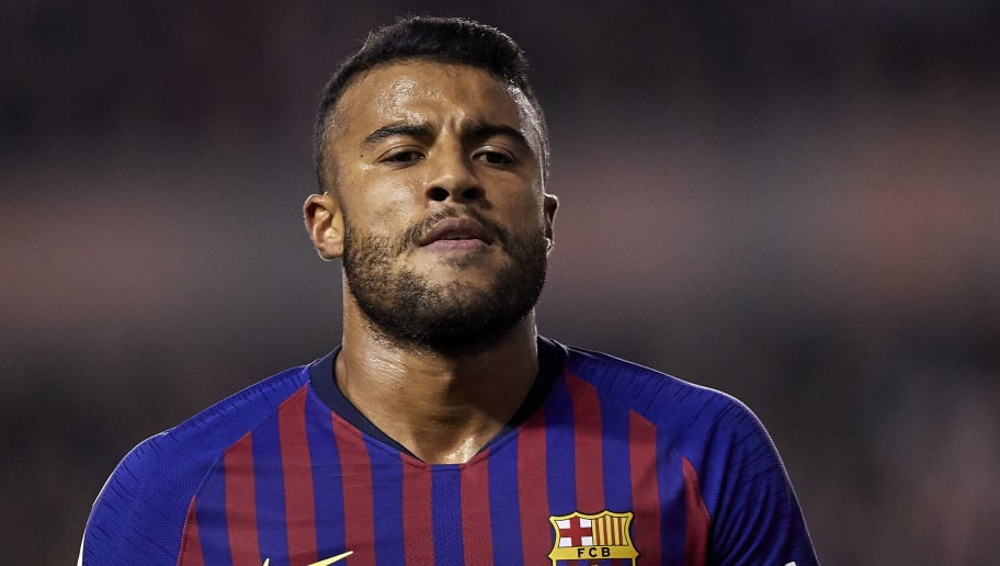 MADRID, SPAIN - NOVEMBER 03:  Rafael Alcantara 'Rafinha' of FC Barcelona looks on during the La Liga match between Rayo Vallecano de Madrid and FC Barcelona at Campo de Futbol de Vallecas on November 3, 2018 in Madrid, Spain.  (Photo by Quality Sport Images/Getty Images)