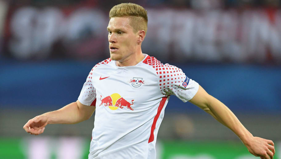 LEIPZIG, GERMANY - DECEMBER 06:  Marcel Halstenberg of Leipzig in action during the UEFA Champions League group G match between RB Leipzig and Besiktas at Red Bull Arena on December 6, 2017 in Leipzig, Germany.  (Photo by Stuart Franklin/Bongarts/Getty Images)