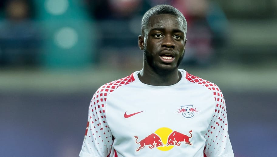 LEIPZIG, GERMANY - MARCH 18: Dayot Upamecano of Leipzig looks on during the Bundesliga match between RB Leipzig and FC Bayern Muenchen at Red Bull Arena on March 18, 2018 in Leipzig, Germany. (Photo by TF-Images/Getty Images)