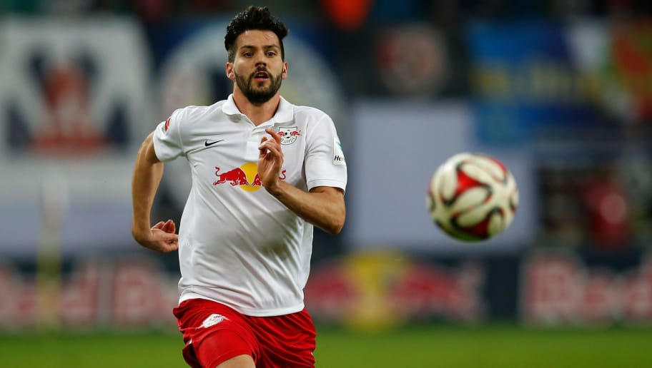 LEIPZIG, GERMANY - MARCH 16:  Anthony Jung of Leipzig runs with the ball during the Second Bundesliga match between RB Leipzig and Fortuna Duesseldorf at Red Bull Arena on March 16, 2015 in Leipzig, Germany.  (Photo by Boris Streubel/Bongarts/Getty Images)