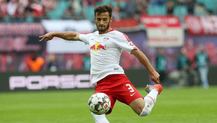 LEIPZIG, GERMANY - SEPTEMBER 02:  Marcelo Saracchi of Leipzig runs with the ball during the Bundesliga match between RB Leipzig and Fortuna Duesseldorf at Red Bull Arena on September 2, 2018 in Leipzig, Germany.  (Photo by Matthias Kern/Bongarts/Getty Images)