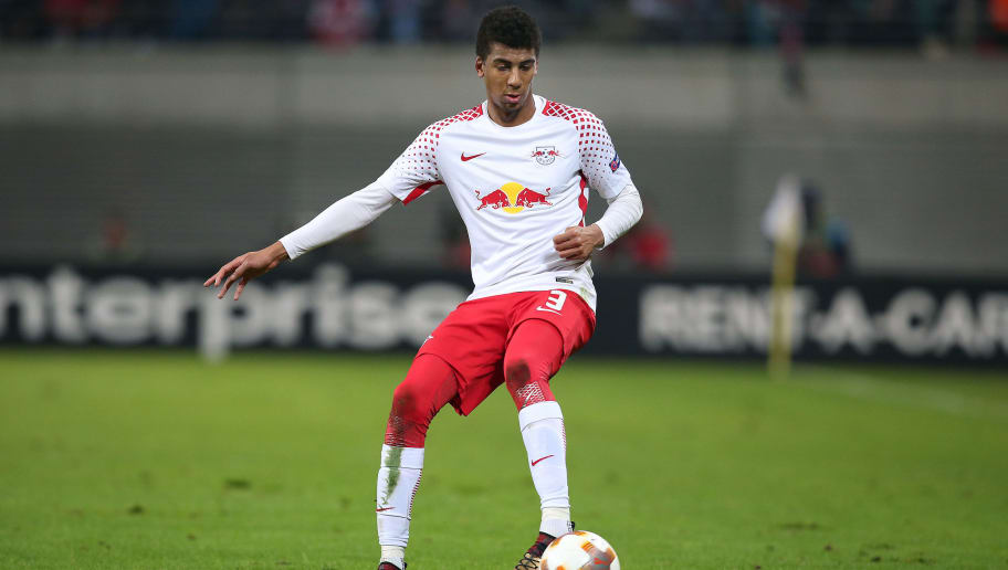 LEIPZIG, GERMANY - FEBRUARY 22: Bernardo of Leipzig runs with the ball during the UEFA Europa League Round of 32 match between RB Leipzig and Napoli at the Red Bull Arena on February 22, 2018 in Leipzig, Germany. (Photo by Ronny Hartmann/Bongarts/Getty Images)