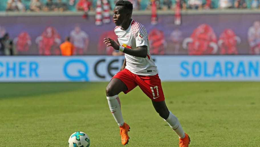 LEIPZIG, GERMANY - APRIL 21:  Bruma of Leipzig runs with the ball during the Bundesliga match between RB Leipzig and TSG 1899 Hoffenheim at Red Bull Arena on April 21, 2018 in Leipzig, Germany.  (Photo by Matthias Kern/Bongarts/Getty Images)