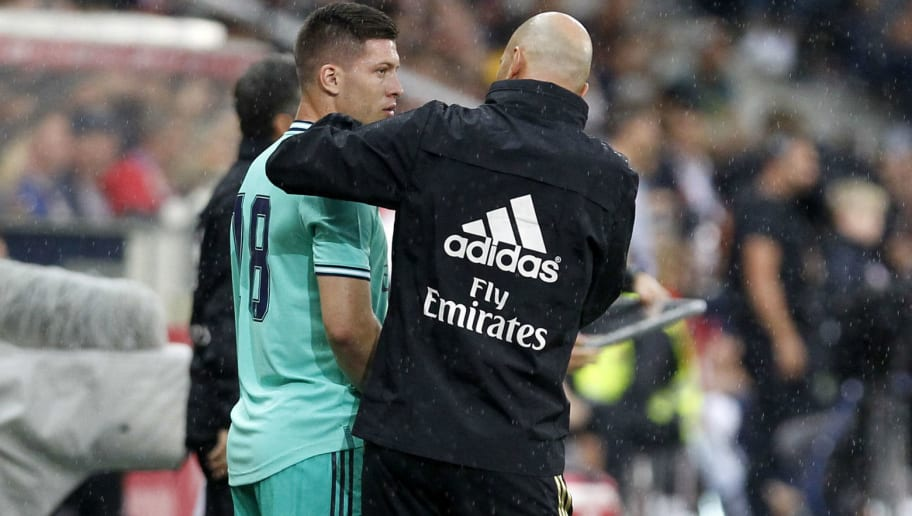 Luka Jovic,Zinedine Zidane