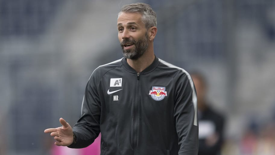SALZBURG, AUSTRIA - MAY 20: Head Coach Marco Rose of Salzburg during the tipico Bundesliga match between RB Salzburg and SV Mattersburg at Red Bull Arena on May 20, 2018 in Salzburg, Austria. (Photo by Andreas Schaad/Bongarts/Getty Images)