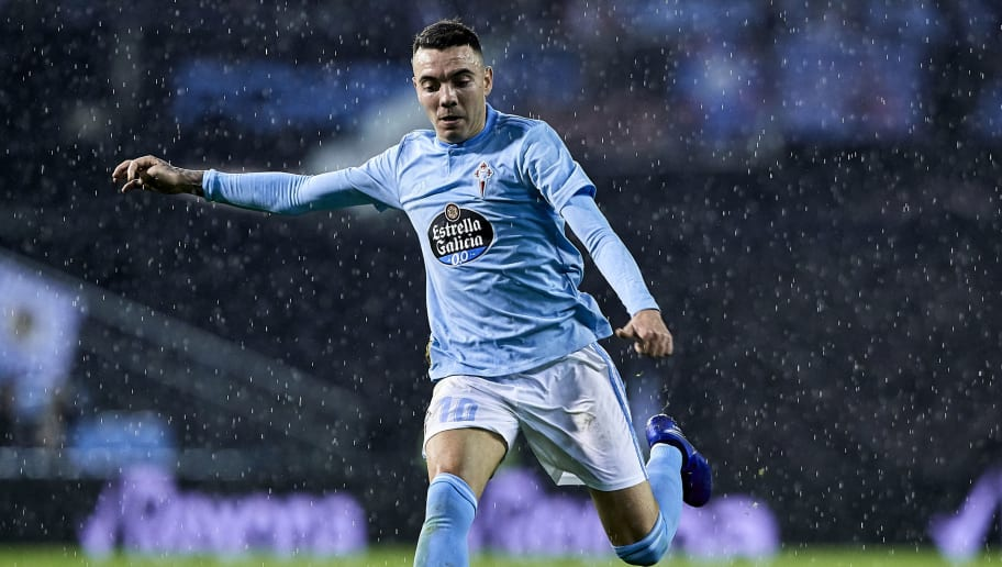 VIGO, SPAIN - DECEMBER 14: Iago Aspas of Celta de Vigo in action during the La Liga match between RC Celta de Vigo and CD Leganes at Abanca-Balaídos on December 14, 2018 in Vigo, Spain. (Photo by Quality Sport Images/Getty Images)