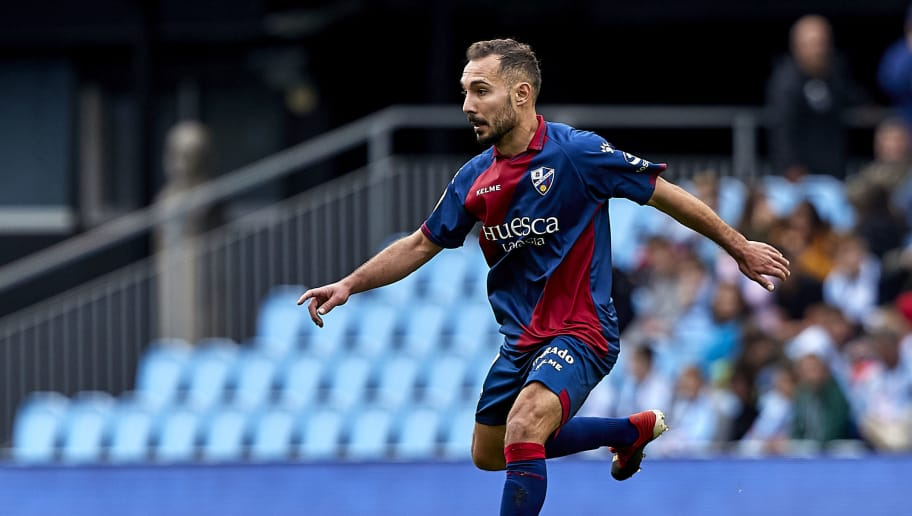 VIGO, SPAIN - DECEMBER 01: David Ferreiro of SD Huesca in action during the La Liga match between RC Celta de Vigo and SD Huesca at Abanca-Balaídos on December 01, 2018 in Vigo, Spain. (Photo by Quality Sport Images/Getty Images)