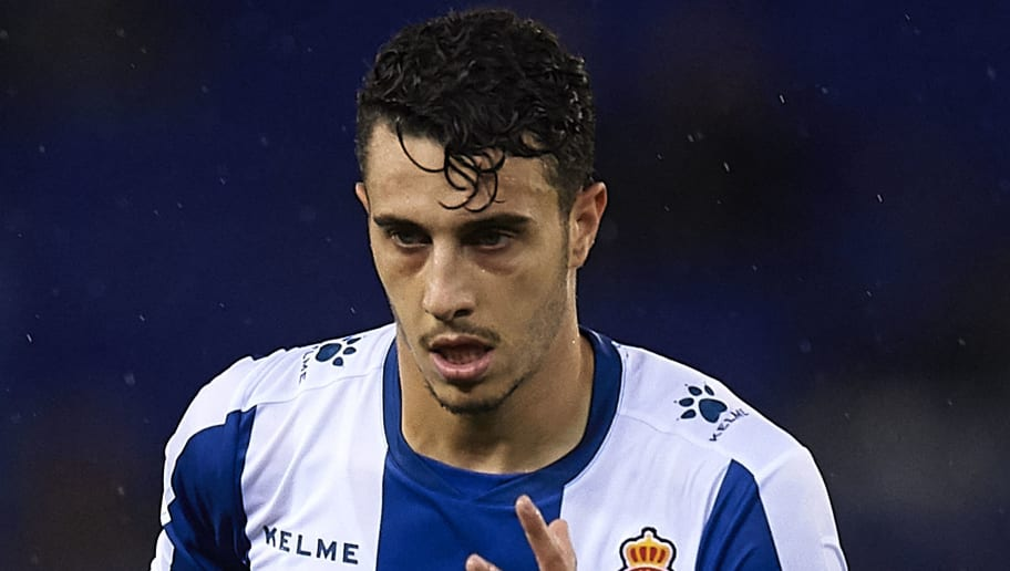 BARCELONA, SPAIN - NOVEMBER 05:  Mario Hermoso of Espanyol looks on during the La Liga match between RCD Espanyol and Athletic Club at RCDE Stadium on November 5, 2018 in Barcelona, Spain.  (Photo by Quality Sport Images/Getty Images)