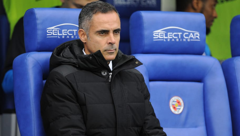 READING, ENGLAND - JANUARY 01: José Manuel Gomes Manager of Reading during the Sky Bet Championship match between Reading and Swansea City at the Madejski Stadium on January 01, 2019 in Reading, England. (Photo by Athena Pictures/Getty Images)