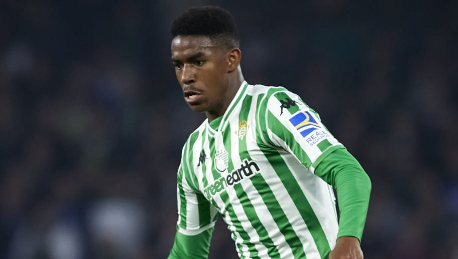 SEVILLE, SPAIN - NOVEMBER 04:  Hector Junior Firpo Adames of Real Betis in action during the La Liga match between Real Betis Balompie and RC Celta de Vigo at Estadio Benito Villamarin on November 4, 2018 in Seville, Spain.  (Photo by Quality Sport Images/Getty Images)