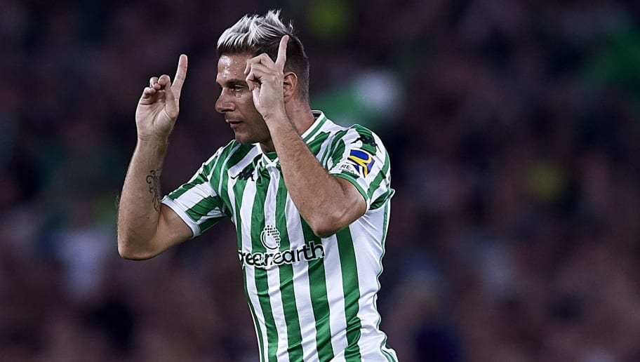 SEVILLE, SPAIN - SEPTEMBER 02:  Joaquin Sanchez of Real Betis reacts during the La Liga match between Real Betis Balompie and Sevilla FC at Estadio Benito Villamarin on September 2, 2018 in Seville, Spain.  (Photo by Quality Sport Images/Getty Images)