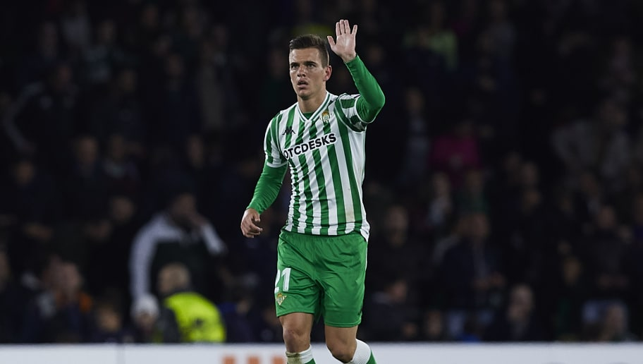 SEVILLE, SPAIN - NOVEMBER 08:  Giovanni Lo Celso of Real Betis reacts during the UEFA Europa League Group F match between Real Betis and AC Milan at Estadio Benito Villamarin on November 8, 2018 in Seville, Spain.  (Photo by Quality Sport Images/Getty Images)